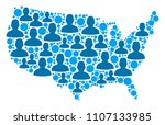 population usa map. demography... | Shutterstock .eps vector #1107133985
