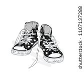 beautiful sneakers. vector... | Shutterstock .eps vector #1107137288