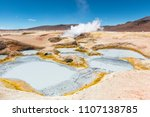 the volcanic activity of sol de ... | Shutterstock . vector #1107138785