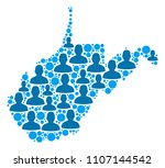 population west virginia state... | Shutterstock .eps vector #1107144542