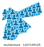 population jordan map.... | Shutterstock .eps vector #1107149135