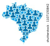 population brazil map.... | Shutterstock .eps vector #1107150842