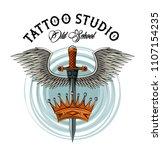 tattoo studio design   Shutterstock .eps vector #1107154235