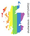 a dotted lgbt scotland map for... | Shutterstock .eps vector #1107154952