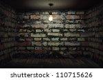 dark room with brick walls | Shutterstock . vector #110715626