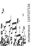 musical notes on white...   Shutterstock .eps vector #1107157136