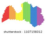 a dotted lgbt latvia map for... | Shutterstock .eps vector #1107158312