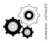gears working symbol in black... | Shutterstock .eps vector #1107161375