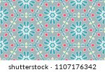 vector patchwork quilt pattern. ... | Shutterstock .eps vector #1107176342