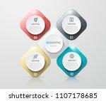 vector infographic label design ... | Shutterstock .eps vector #1107178685