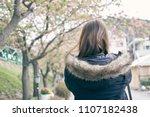 asian women  white skin aged 25 ... | Shutterstock . vector #1107182438