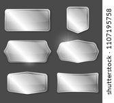 set of metal or silver vector... | Shutterstock .eps vector #1107195758