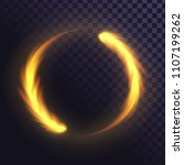 ring of flame  fiery  round... | Shutterstock .eps vector #1107199262