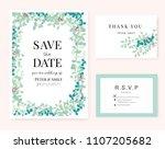 wedding card invitation... | Shutterstock .eps vector #1107205682