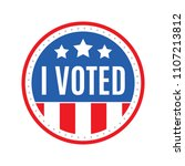 i voted election sticker vector ... | Shutterstock .eps vector #1107213812