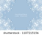invitation or card template...   Shutterstock .eps vector #1107215156