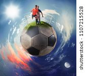 football players in a soccer...   Shutterstock . vector #1107215528
