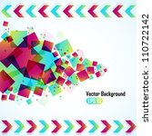 abstract vector background with ... | Shutterstock .eps vector #110722142