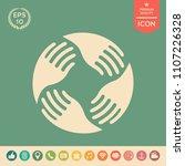 teamwork hands logo. human... | Shutterstock .eps vector #1107226328