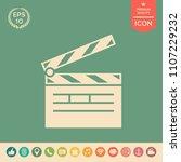 clapperboard icon symbol | Shutterstock .eps vector #1107229232