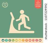 man on treadmill icon | Shutterstock .eps vector #1107229592