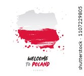welcome to poland. europe. flag ...   Shutterstock .eps vector #1107229805