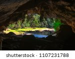 The Wall Inside The Cave With...