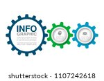 vector infographic template for ... | Shutterstock .eps vector #1107242618