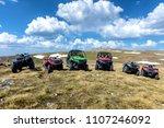 parked atv and utv  buggies on...   Shutterstock . vector #1107246092