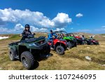 friends driving off road with...   Shutterstock . vector #1107246095