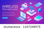 wireless technology isometric... | Shutterstock .eps vector #1107248975