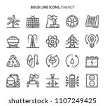 energy  bold line icons. the... | Shutterstock .eps vector #1107249425