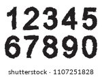 grunge numbers set.vector dirty ... | Shutterstock .eps vector #1107251828