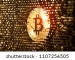 bitcoin virtual crypto currency ... | Shutterstock . vector #1107256505