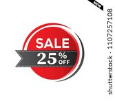 sale and special offer tag ... | Shutterstock .eps vector #1107257108