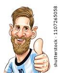 lionel messi  an argentine... | Shutterstock .eps vector #1107265058