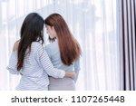 same sex asian lesbian couple... | Shutterstock . vector #1107265448