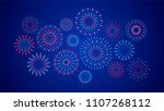 set of isolated festive... | Shutterstock .eps vector #1107268112