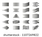 collection of speed lines with... | Shutterstock .eps vector #1107269822