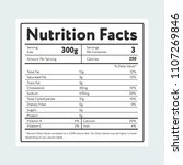 label showing nutrition facts... | Shutterstock .eps vector #1107269846