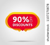 special offer sale red tag... | Shutterstock .eps vector #1107270878