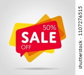 special offer sale red tag... | Shutterstock .eps vector #1107276515