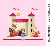 fairytale poster with beautiful ... | Shutterstock .eps vector #1107281765