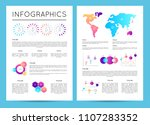 investment analytics with... | Shutterstock .eps vector #1107283352