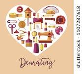 decorating art and handicraft... | Shutterstock .eps vector #1107287618