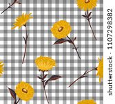 floral seamless pattern.... | Shutterstock .eps vector #1107298382