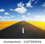 asphalt car road and clouds on... | Shutterstock . vector #1107303656
