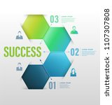 business concept up to success... | Shutterstock .eps vector #1107307808