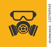 mask industry vector icon | Shutterstock .eps vector #1107309545