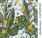 botanical motifs. isolated... | Shutterstock .eps vector #1107309965